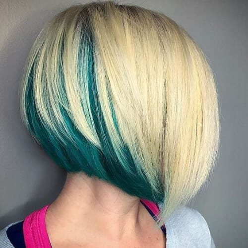pine blonde stacked bob haircut