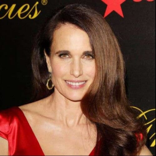 Andie MacDowell best hairstyles for women over 50