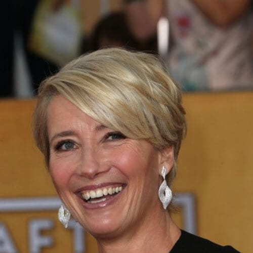 Emma Thompson best hairstyles for women over 50