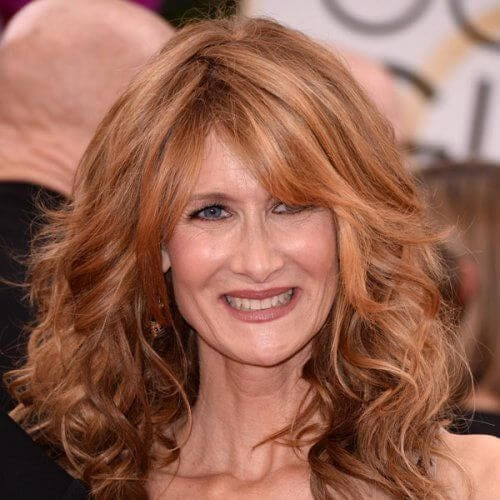 Laura Dern long curly best hairstyles for women over 50