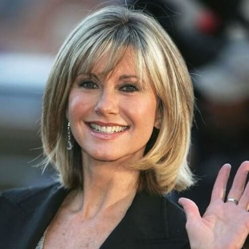 Olivia Newton John best hairstyles for women over 50