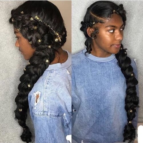 braided sew in weave hairstyles