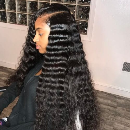 crimped sew in weave hairstyles