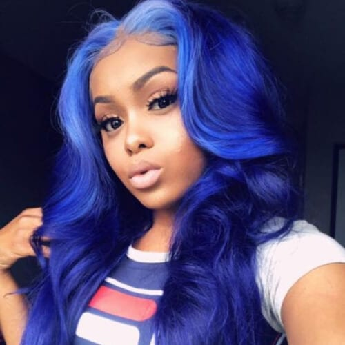 ink blue sew in weave hairstyles