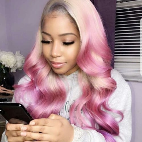 lilac sew in weave hairstyles