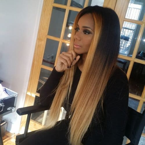 straight ombre sew in weave hairstyles