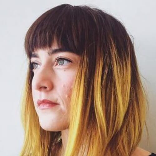 Bright-Yellow-Ombre-With-Bangs short ombre