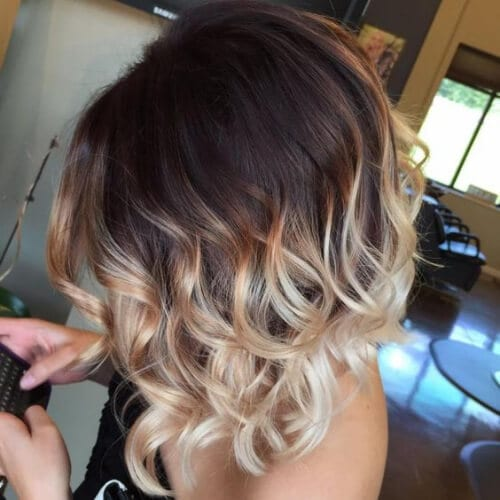 Curly short Ombre Hair