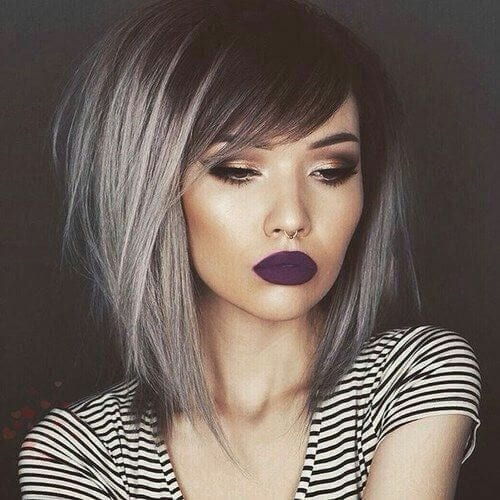 Grombre short ombre hair