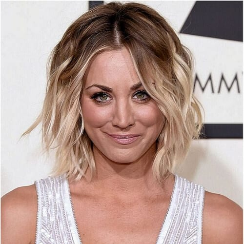 Kaley Cuoco – 2016 Grammy Awards in Los Angeles short hiar ombre