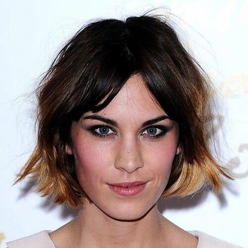 alexa chung short ombre hair