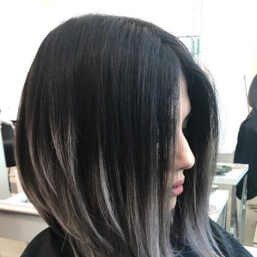 angular bob short ombre hair