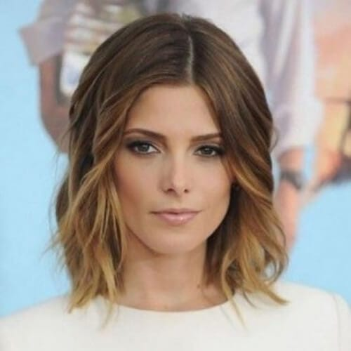 ashley green short ombre hair