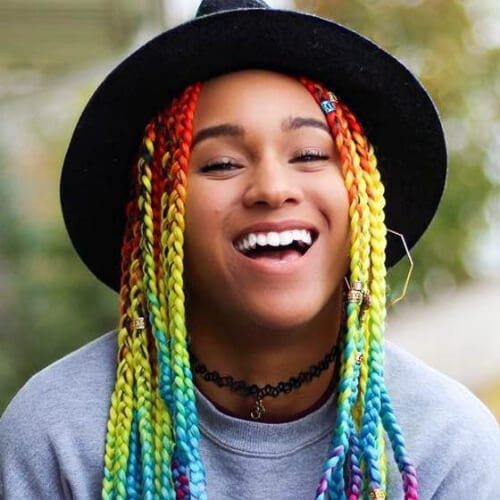 50 Creative \u0026 Colorful Braid Hairstyles with Weave