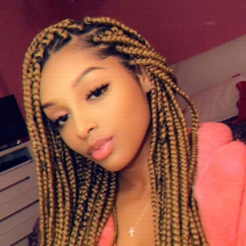 dark honey braid hairstyles with weave
