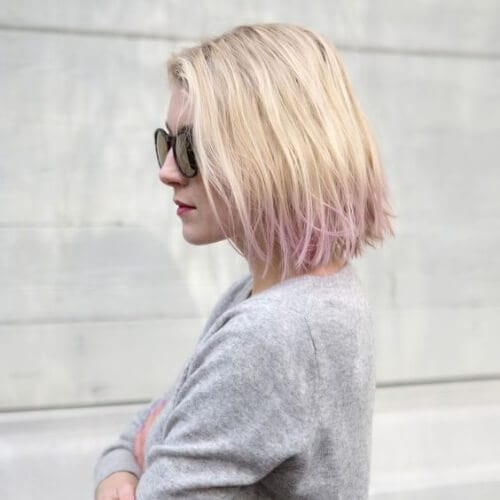 dirty blonde lavender short ombre hair