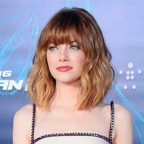 emma stone short ombre hair