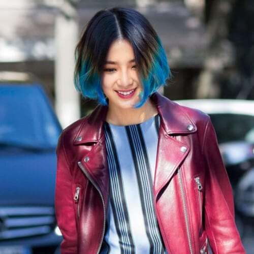 jaw bob short ombre hair
