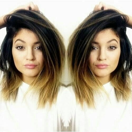 kylie jenner short ombre hair