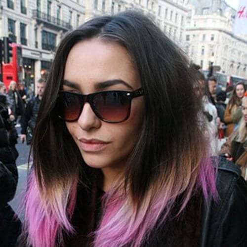 lilac short ombre hair