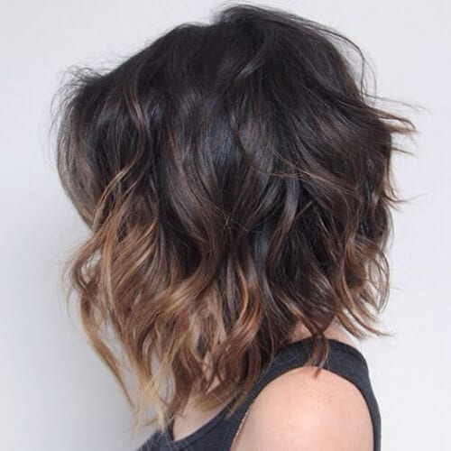 milk chocolate short ombre hair