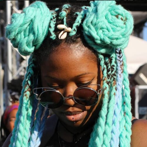 sea foam yarn braid hairstyles with weave