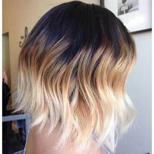 two color short ombre hair