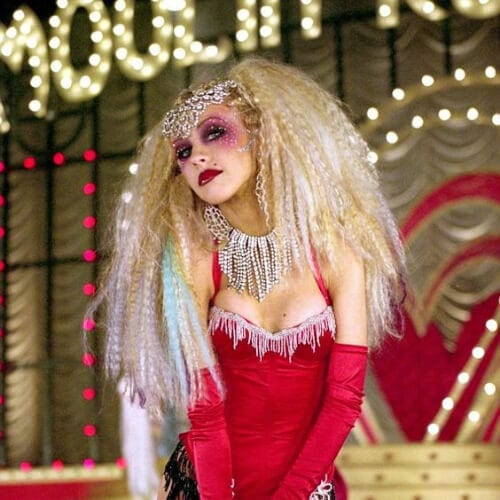 Christina Aguilera - Moulin Rouge curly hairstyles