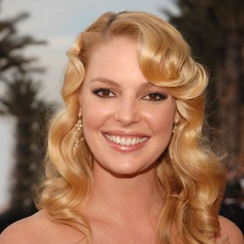 Katherine Heigel's curly, retro-Hollywood inspired hair curly