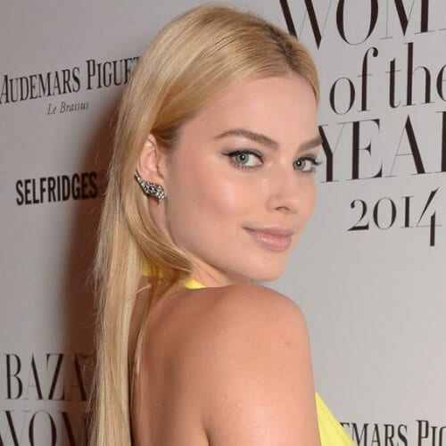 Margot Robbie updos for long hair