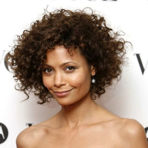 Thandie Newton curly hairstyles