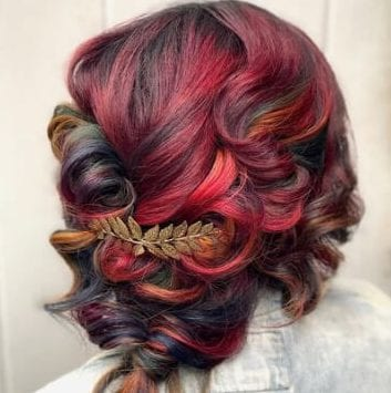 autumn red ombre hair