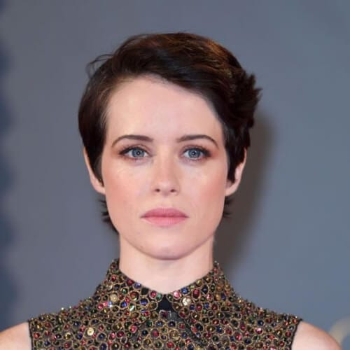 claire foy pixie haircut
