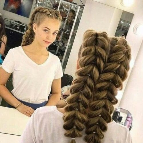 double jumbo updos for long hair
