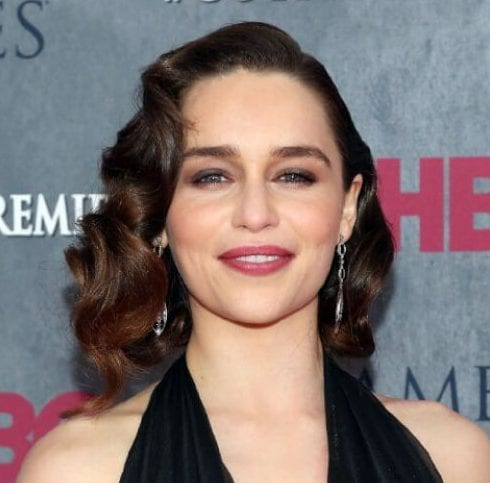 emilia clarke curly hairstyles