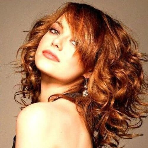 emma stone curly hairstyles