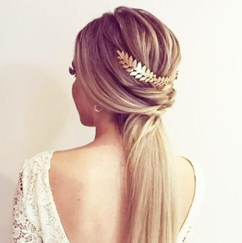 golden low braid updos for long hair