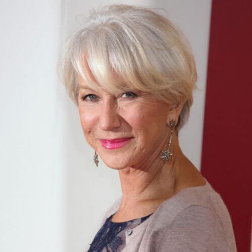 helen mirren pixie haircut