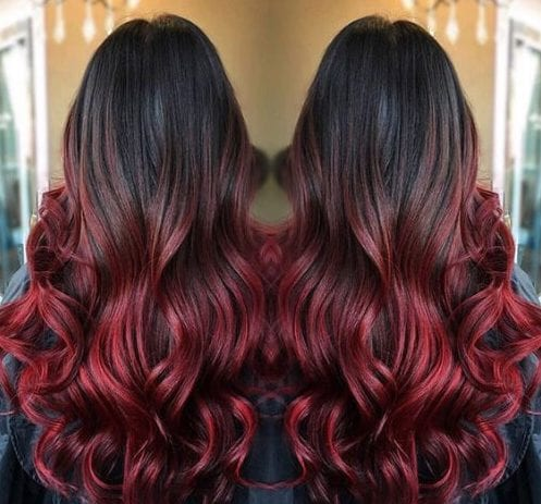 jam red ombre hair