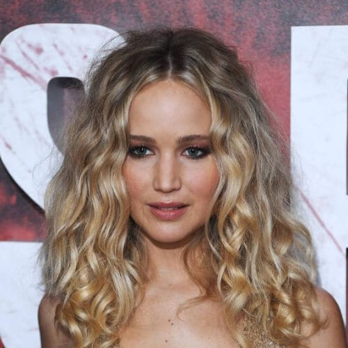 jennifer lawrence curly hairstyles