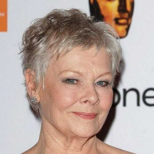 judi dench pixie haircut