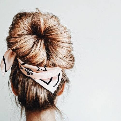 jumbo bun updos for long hair