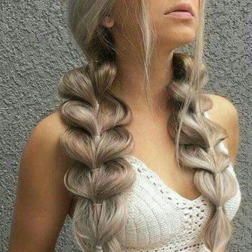 jumbo plaits updos for long hair