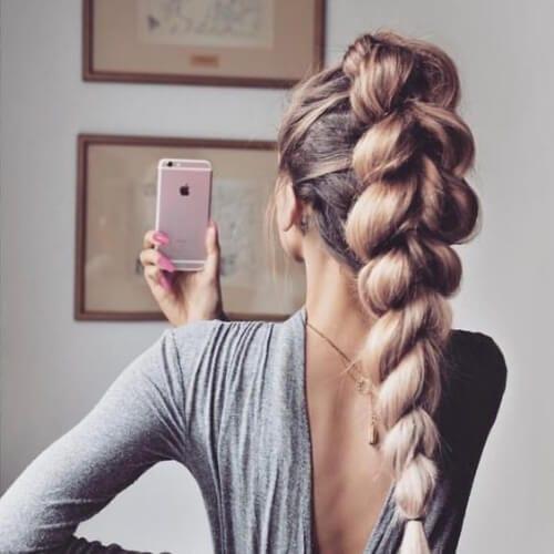 jumbo updos for long hair