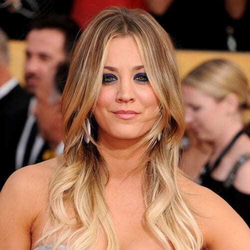 kaley cuoco updos for long hair