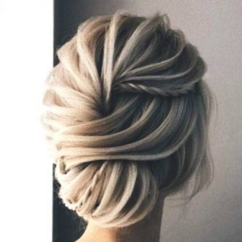 layered updos for long hair