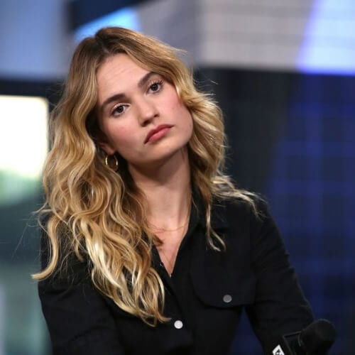 lily james curly hairstyles