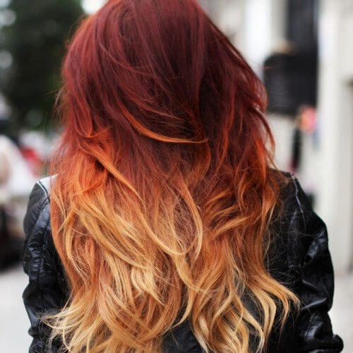 mahogany red ombre hair