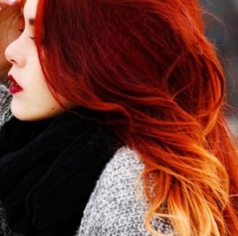 pepperoni red ombre hair