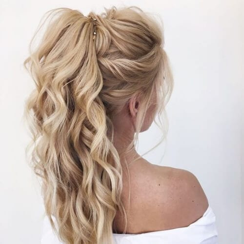 ponytail updos for long hair